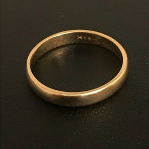 14k Solid Gold Wedding Band